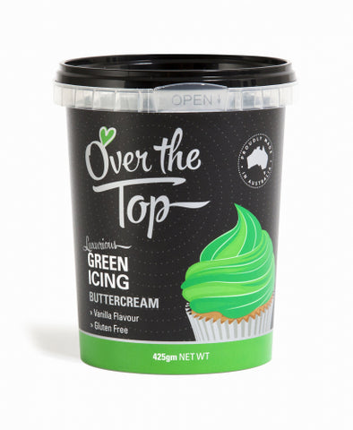 Over The Top Butter Cream Icing - Green  - 425g - Gluten Free