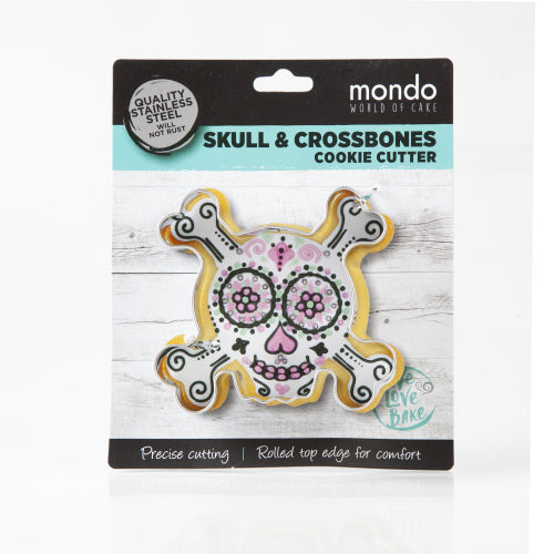 MONDO SKULL AND CROSSBONES COOKIE CUTTER