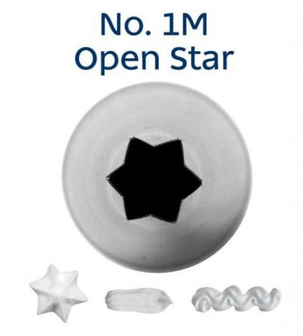LOYAL No. 1M OPEN STAR MEDIUM PIPING TIP