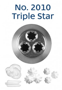Loyal No. 2010 TRIPLE STAR Piping Tip