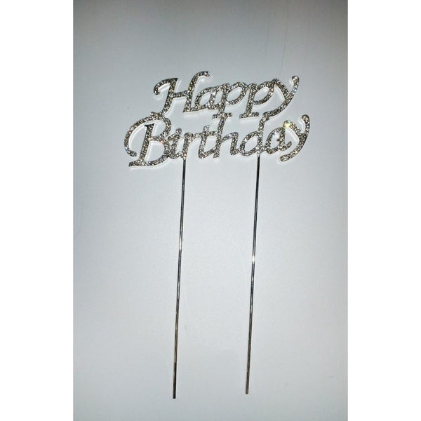 DIAMANTE HAPPY BIRTHDAY PICK - CAKE TOPPER