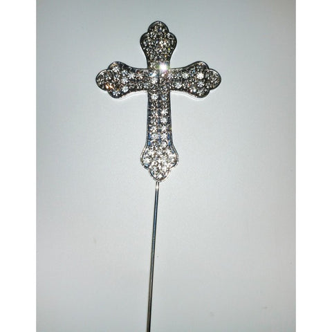 DIAMANTE CROSS SYMBOL - CHRISTENING / COMMUNION - CAKE TOPPER
