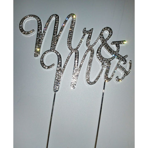 DIAMANTE MR. AND MRS. - CAKE TOPPER