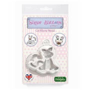 Cat Sugar Buttons Silicone Mould - Katy Sue Mould