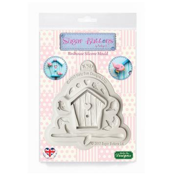 Birdhouse Sugar Buttons Silicone Mould - Katy Sue Mould