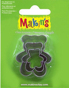 Makin's Cutter Set of 3 - Teddy Bear
