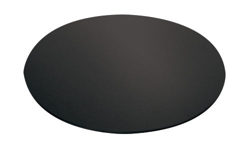 "12"" Round Black Masonite Cake Board"