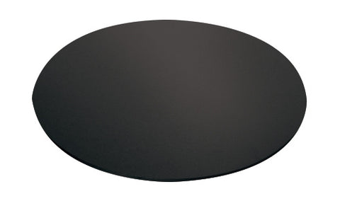 "10"" Round Black Masonite Cake Board"
