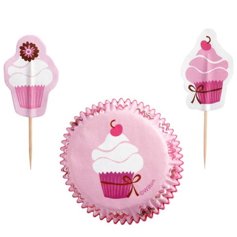 WILTON PINK PARTY CUPCAKE COMBO PACK