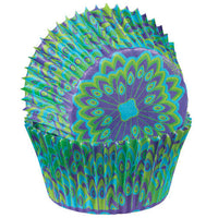 WILTON Peacock Baking Cups Standard 75pc