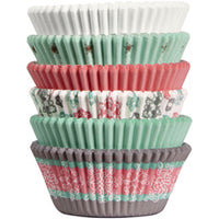 SNOWFLAKE BAKING CUPS TUBE - 150PC