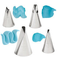 WILTON 4-PC. RUFFLES TIP SET