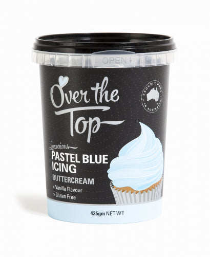 Over The Top Butter Cream Icing - Pastel Blue - 425g - Gluten Free