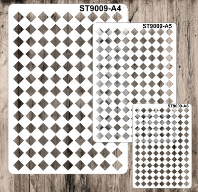 Stencil 9009 Squares - Set of 3