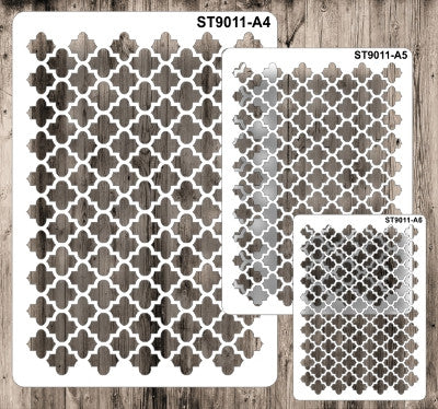 Stencil 9011 Pattern - Quatrefoil - Set of 3