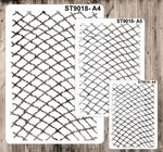 9018 Pattern - Net - Set of 3 Stencils