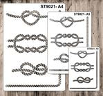 9021 Pattern - Knots 2 - Set of 3 Stencils