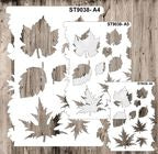 9038 Pattern - Leaves  - Set of 3 Stencils