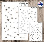 9061 Pattern - Stars - Set of 3 Stencils