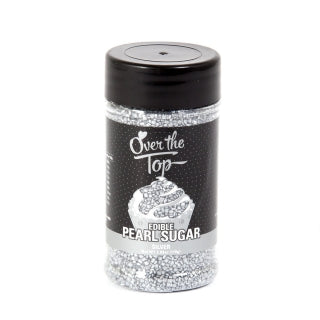 Over The Top PEARL Sanding Sugar - Silver - Cake Decorating 110g - Gluten Free