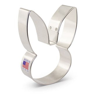 Bunny Head Cookie Cutter by Flour Box Bakery - Tin