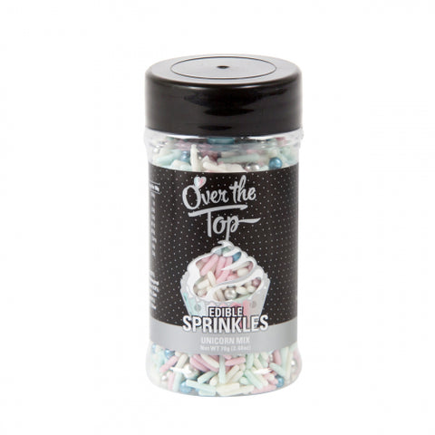 Over The Top Sprinkles  - UNICORN MIX 70g - Gluten Free Sprinkles