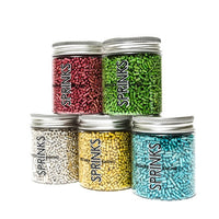 METALLIC SILVER JIMMIES 1MM (85G) - BY SPRINKS