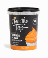 Over The Top Butter Cream Icing - Orange - 425g - Gluten Free