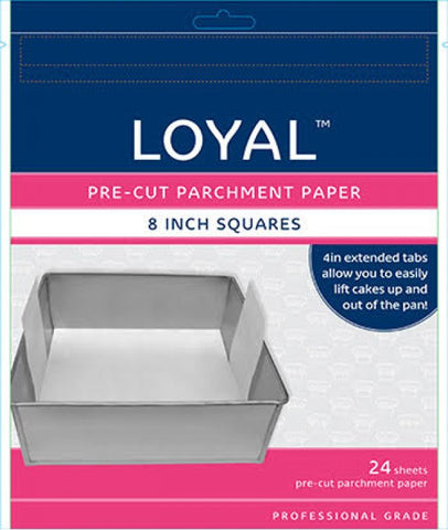 LOYAL PRE-CUT PAPER WITH TABS Square 200mm/8 inch