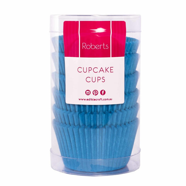 Blue Baking Cups Paper Cupcake Case Pkt 100