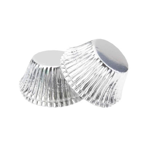 Silver Mini Foil Cupcake Cups x 40 Pack Baking Cups