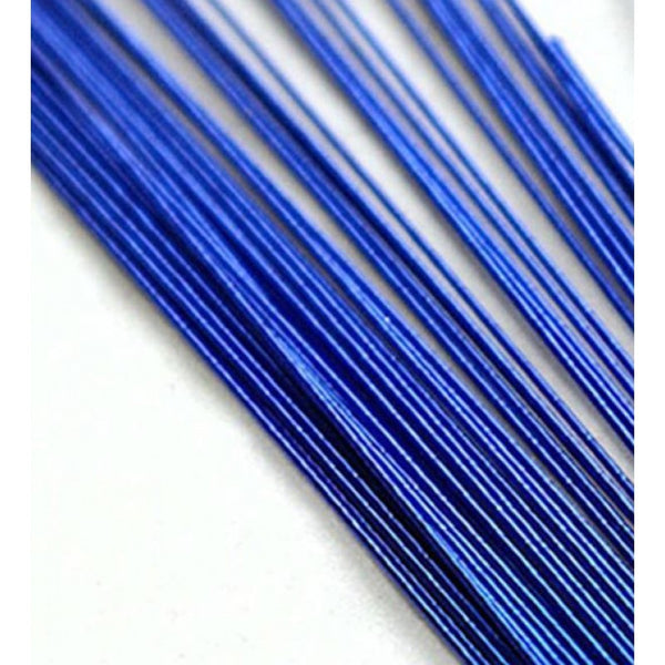 BLUE METALLIC - 24 GAUGE - FLORIST WIRE / FLOWER WIRES