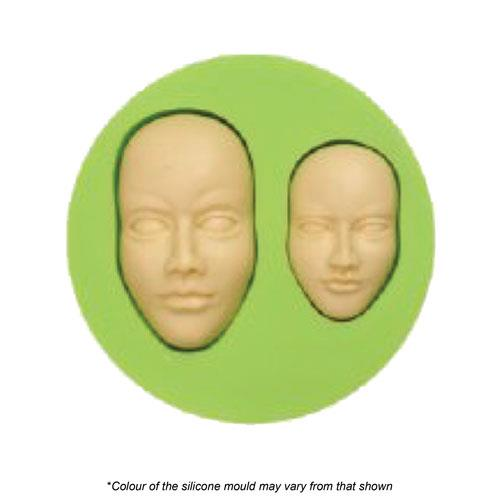 TWIN MALE FACE SILICONE MOULD