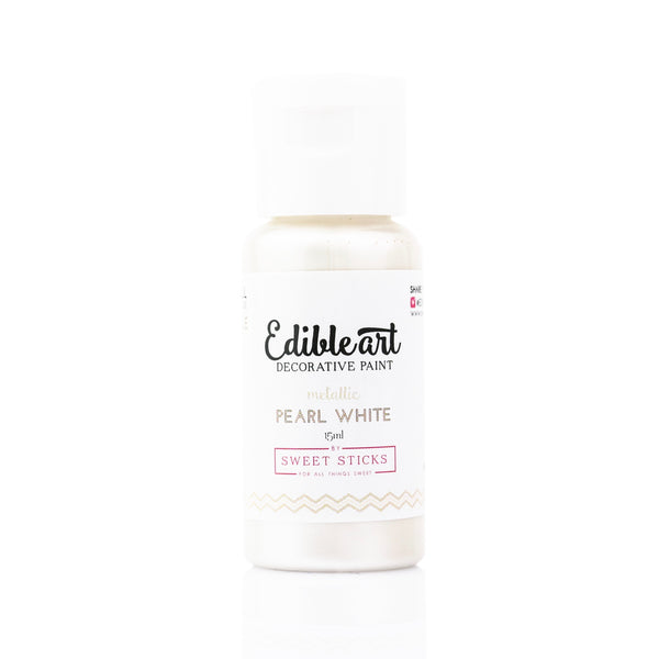 SWEET STICKS METALLIC PEARL WHITE PAINT 15ML
