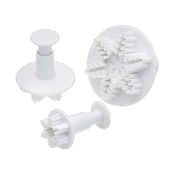 Snowflake Ejector Cutters - Set of 3