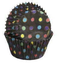 WILTON Black With Neon Baking Cups - Standard