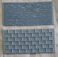 Woodgrain and Brick Embossing Mat