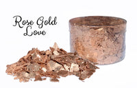 Crystal Candy ROSE GOLD LOVE Edible Flakes 6g