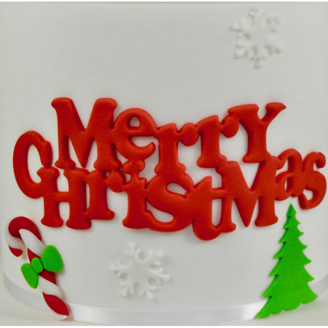 CURVED WORDS MERRY CHRISTMAS SET - FMM