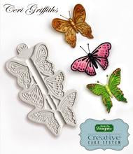 Butterfly Trio Silicone Mould - Katy Sue Mould