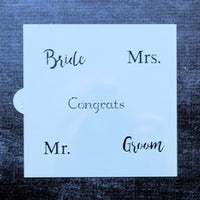 Wedding Word Stencil 5.85 x 5.5