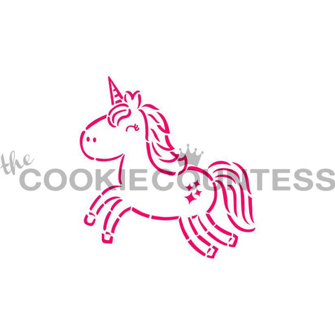 Cutie Unicorn PYO Stencil The Cookie Countess