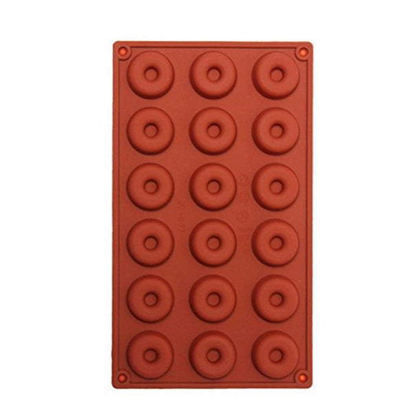 18 CAVITY - TINY DONUT SILICONE CHOCOLATE MOLD- D-010