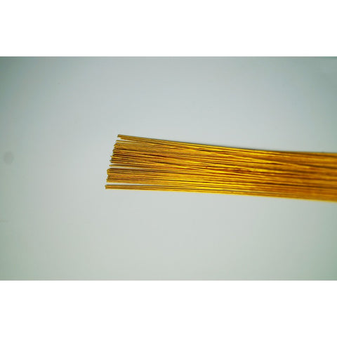 GOLD METALLIC - 24 GAUGE - FLORIST WIRE / FLOWER WIRES