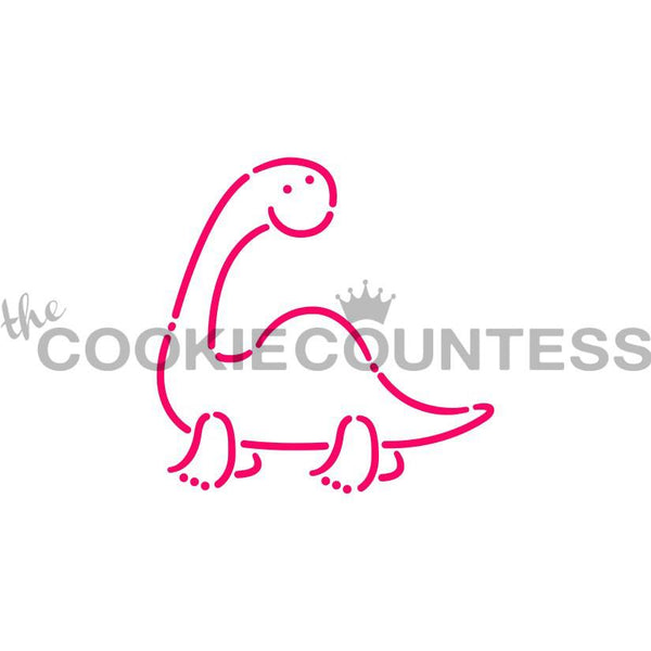 Dinosaur 2 Stencil The Cookie Countess