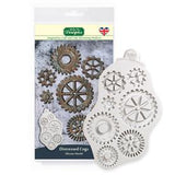 Distressed Cogs Silicone Mould - Katy Sue Mould