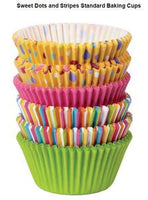 WILTON SWEET DOTS AND STRIPES STANDARD BAKING CUPS - 150