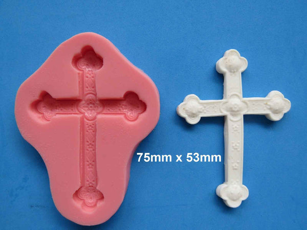 CROSS MOULD LARGE 75MM X 53MM