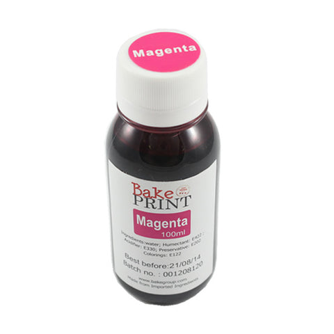 MAGENTA - EDIBLE INK REFILL BOTTLE 100ML - for CANNON
