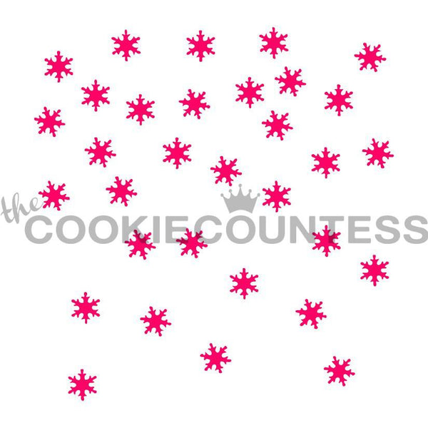 Falling Snow Stencil The Cookie Countess